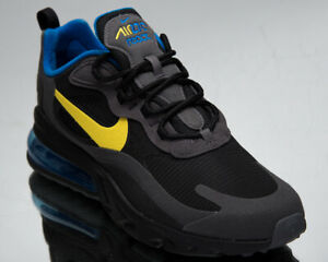 Nike Air Max 270 React Men's Black Yellow Grey Athletic Lifestyle Sneakers Shoes
