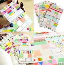 6Pcs Transparent Calendar Scrapbook Diary Book Decor Paper Planner Sticker CH