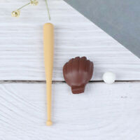 1/12 Dollhouse Miniature Furniture Baseball Bat & Mitt Set Doll Decor Access SE
