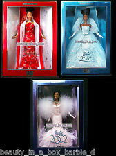 2002 Collector Edition Barbie Doll 2000 2001 Aa African American Holiday Lot 3