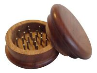 """2"""" 2 Piece Wood Tobacco Spice Herb Grinder FREE SAME DAY SHIPPING!!!"""