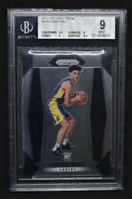 2017-18 Panini Prizm Lonzo Ball BGS 9 Mint #289 Rookie RC Pelicans .5 From Gem