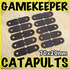 NEW* 50 X GAMEKEEPER CATAPULT POUCHES! SUPER STRONG! 70X20mm - SLINGSHOT HUNTING