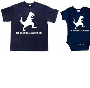 Big Brother dinosaur shirt set matching t rex brother set t rex brother clothes