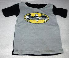 Batman Camo Short-Sleeve Toddler Boys Gray Black Pajama Top Shirt 2-4 Halloween