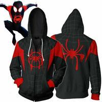 Miles Morales Spiderman Into the Spider-Verse Costume Jacket Hoodie Sweatshirt