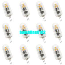 12x G4 LED Bulbs 6 2835-SMD Spot Light Bulb Lamp 3Watt 300Lm DC12-24V Warm White