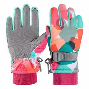 Winter Kids Boys Girls Thinsulate Snow Mittens Waterproof Warm Ski Gloves Sports