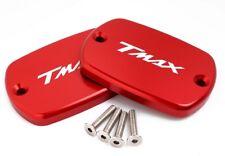 COPPIA TAPPI COPERTURE SERBATOIO FRENO TMAX 500 T MAX 530 ROSSI ROSSO