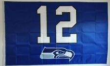 More details for american football- seattle seahawks- blue 12th man flag (5ft x 3ft)