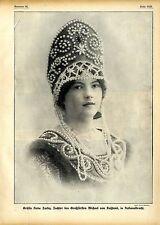Gräfin Nada Torby (Nationaltracht) Tochter d.Großfürsten Michael v.Rußland 1912