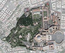 POSTER – vista Satellitare della Città del Vaticano (Mappa Foto Chiesa Bibbia)