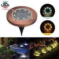 8 LED Solar Power Ground Light Floor Decking Patio Outdoor Garden Lawn Path Lamp