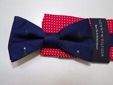 cdcd373db0dd Tommy Hilfiger men blue Christmas Tree pre-tied bow tie and pocket square  set