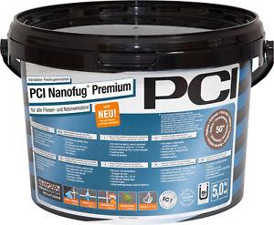 PCI Nanofug Premium 5 kg 28 Farben Flexfugenmörtel für alle Fliesen & Naturstein