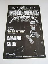 Paul Wall Heart Of A Champion Poster 2010 11X17 Promotional Poster 2 Sided New