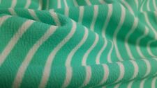 "Liverpool Stripes Green and White printed ,58""/60"" width, by the yard"