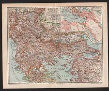 Landkarte map 1897: Europäische Türkei. Türkisches Reich