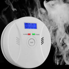2 in 1 CO Carbon Monoxide Detector Smoke Fire Sensor Sound & Flash Warning Alarm