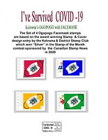 I've Survived -19 - Pandemic Issue   Set of 4 CDN Picture Postage stamps