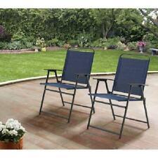 Mainstays Pleasant Grove Sling Folding Chair, Set of 2 - Blue