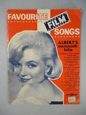 rare MARILYN MONROE Film Songs Songbook Sheet Music 1960 published in Australia