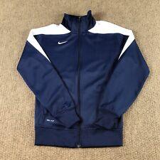 Nike Mens Sz Medium Blue Dri-Fit Long Sleeve Full Zip Fitted Track Jacket Adult