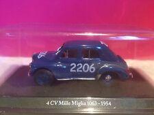 ELIGOR SUPERBE RENAULT 4CV MILLE MIGLIA 1063 1964 1/43 SOUS BLISTER G7