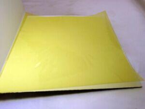 "KODAK Color Printing Lens Filter 6X6"" gelatin square CP-20Y Light Yellow"