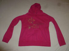ROXY FUSCHIA PINK PULLOVER SWEATSHIRT HOODIE SIZE LARGE JUNIOR GIRL FLOWERS