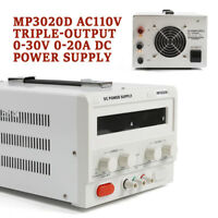 MP3020D Linear DC Power Supply 110V Triple-Output 0-30V 0-20A Regulated Variable