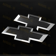 For 2016-2019 GM Chevy Silverado 1500 Black Front & Tailgate Bow tie Emblem