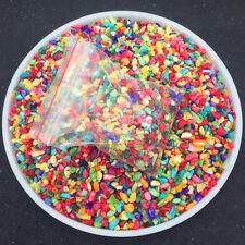 50g Natural Quartz Crystal Rainbow Stone Mini Colorful Chip Rough Rock Polished