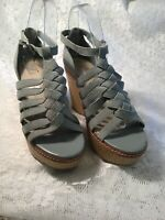 MARKS AND SPENCER Autograph Ford  Blue Open Toed Women's Wedge Sandals Size UK5