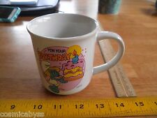 1982 SMURF birthday ceramic mug  W Berrie & Co Pego