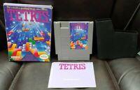 Tetris -  NES Nintendo Game Original BOX Complete CIB Manual Cover Dust Cover