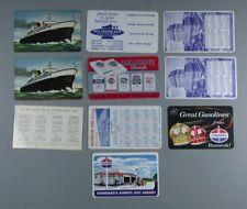 10  Adv Pocket Calendars - Standard Oil, Patterson Steel, Portland Cement....