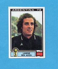 ARGENTINA'78 - PANINI - Figurina n.168- LAMINE BEN AZIZA - TUNISIA -Recuperata