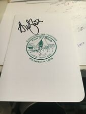 Andy North 1971 Western Amateur Winner Signed Point O Woods Scorecard COA