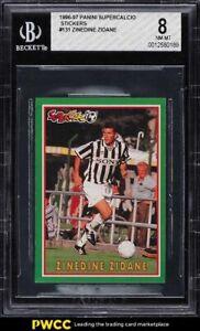 1996 Panini Supercalcio Stickers Zinedine Zidane #131 BGS 8 NM-MT