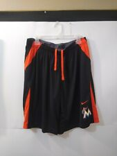 Men's XL Nike Dri Fit Athletic Baseball Training Shorts MLB Miami Marlins EUC