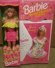 Ruffle Fun Barbie Special Occasion Gift Set Greeting Card Rare Exclusive 1995