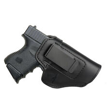 IWB Leather Holster for Gun Pistol Glock 19 23 26 27 42 43 J Frame 1911 S&W M&P