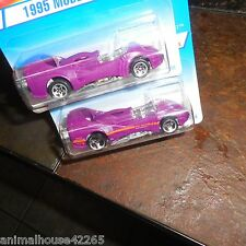 RARE 2 CAR LOT HOT WHEEL ERROR VARIATION NO TAMPO 1995 MODEL SERIES POWER ROCKET