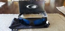 OAKLEY GASCAN MATTE BLACK ICE IRIDIUM POLARIZED SUNGLASSES OO9014 26-244 NWT