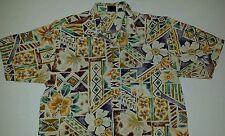 Bon Homme Vintage Hawaiian Style Shirt Mens Big Reg 1XL Southwest Colors Flowers