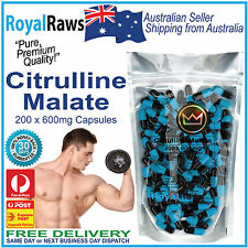 Best Quality Citrulline Malate 200 x 600mg caps pre-workout pump muscle builder