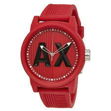 Armani Exchange ATLC Red Silicone Strap Mens Watch AX1453
