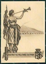 Militari Fascismo 18º Distretto Militare Catania FG cartolina XF4062