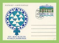 Norway 1975 Nordjamb 75' Scouts stationery card with special cancel